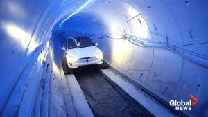 Elon Musk test drives the tunnel he hopes will solve L.A. traffic
