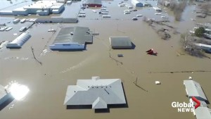 Drone footage captures state of flooding in parts of Nebraska following 'bomb cyclone'