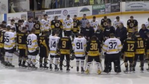 Estevan Bruins, Nipawin Hawks pay tribute to Humboldt Broncos before Saturday's game