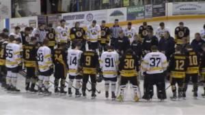 Estevan Bruins, Nipawin Hawks pay tribute to Humboldt Broncos before Saturday's game
