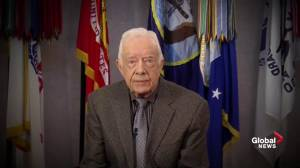 'Hillary Clinton has my support': Jimmy Carter shows his support for Clinton during DNC