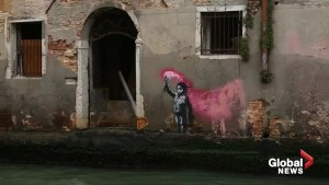 Banksy work showing a child with flare in Venice confirmed as genuine
