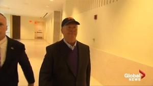 Celebrity chef Mario Batali arrives in court in Boston, MA