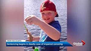 Sentencing begins for Ontario manfound guilty of impaired operation of a canoe causing death.