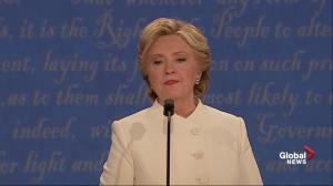 Presidential debate: 'Donald thinks belittling women makes him bigger' – Clinton on Trump's treatment of women