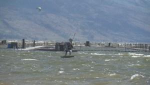 Kite boarders fly high in Okanagan Lake