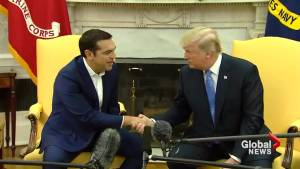 Trump says Obamacare is dead during meeting with Greek PM