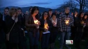 Vigil held to honour Rachel Pernosky