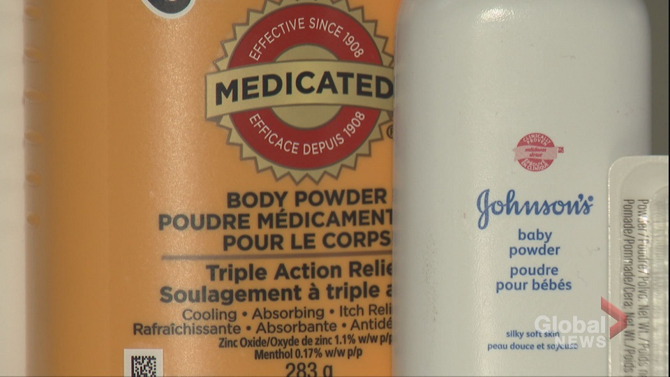 Click to play video: 'Health Canada finds talcum powder may cause cancer, lung damage'