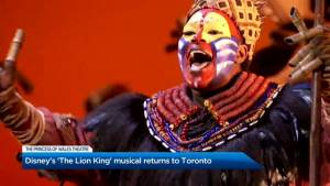 Disney's 'The Lion King' musical returns to Toronto
