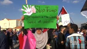 Jordanians protest U.S. embassy move (01:00)