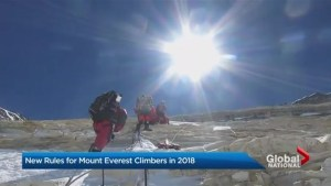 New rules for Mount Everest climbers in 2018