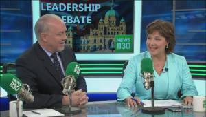 First leaders debate generates some sparks, and one awkward moment