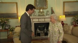 Justin Trudeau meets with the Queen in London