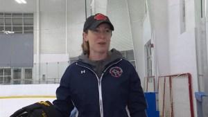Jayna Hefford hockey school in Kingston