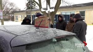 Montreal parents brave the cold to grab a kindergarten spot at Royal Vale School