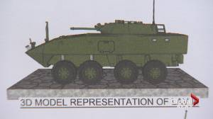 Canadian LAV replica comes to Airdrie to honour Afghan vets (01:42)