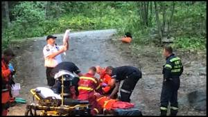 Burn victim rescued from campsite by RCAF Rescue Helicopter