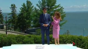 Justin and Sophie Trudeau greet world leaders at G7 meeting