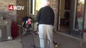 NHL legend Gordie Howe plays hockey with great grandson following amazing recovery