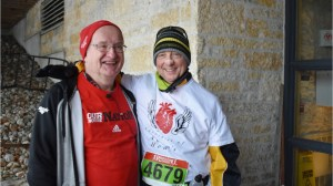 Family witnesses man running 10K race with son's donated heart