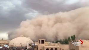 Sandstorm sweeps though Iranian city of Yazd