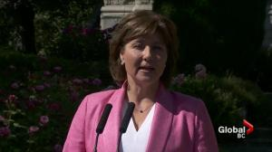 B.C. Legislature confidence vote today