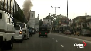 Dash cam footage captures moment of deadly Sri Lanka explosion