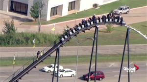Firefighters rescue people trapped on Silver Bullet rollercoaster at Oklahoma theme park