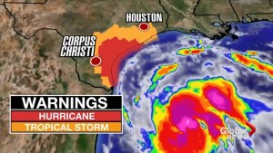 Parts of the U.S. bracing as Hurricane Harvey looks to break records