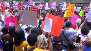 Protesters gather in New York for second day of anti-Trump protests