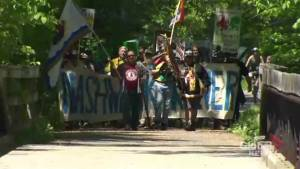 Energy East Pipeline opponents march in Fredericton