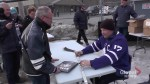 Wendel Clark delights fans at outdoor rink in Havelock