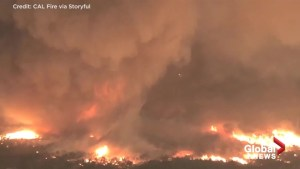 New footage shows 'Firenado' which killed firefighter in California