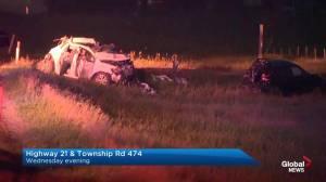 Fatal collision near Camrose, Alta. (00:18)