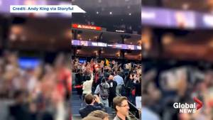 Raptors fans chant 'O Canada' after Game 3 victory in Oakland