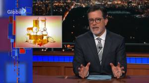 'The most dangerous American export': Colbert talks about opioid crisis