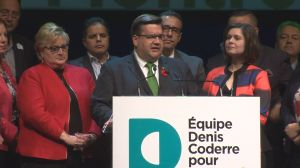Denis Coderre speaks after losing election