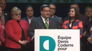 Denis Coderre speaks after losing election