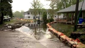 Toronto Island homes remain at risk from rising flood waters.