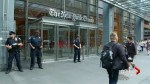 Police guard news outlets in New York after Maryland shooting