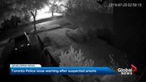 Toronto police call for vigilance after suspected arsons