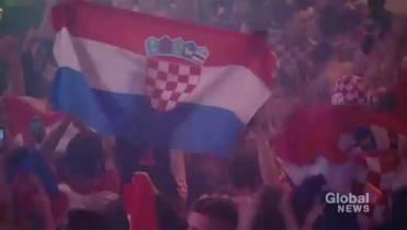 bbb555add21 Fans of Croatia s soccer team celebrated