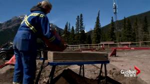 Archeologists conduct dig in Banff at site of new parking lot