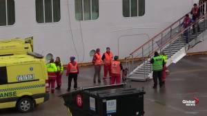 Stranded Norwegian cruise ship arrives at Port of Molde