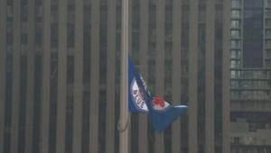 John Tory raises Toronto Blue Jays flag at City Hall