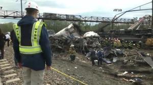 NTSB video of the Amtrak train derailment scene