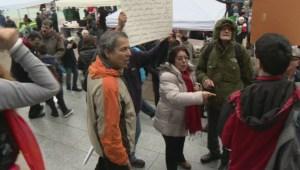 Local Iranian community protest