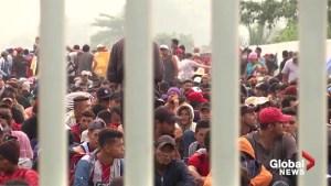 Caravan at Mexico-Guatemala border shrinks as migrants cross through, hoping to reach U.S.