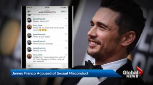 James Franco accused of sexual misconduct (01:40)